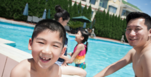 How to avoid tooth erosion caused by chlorine in swimming pools.